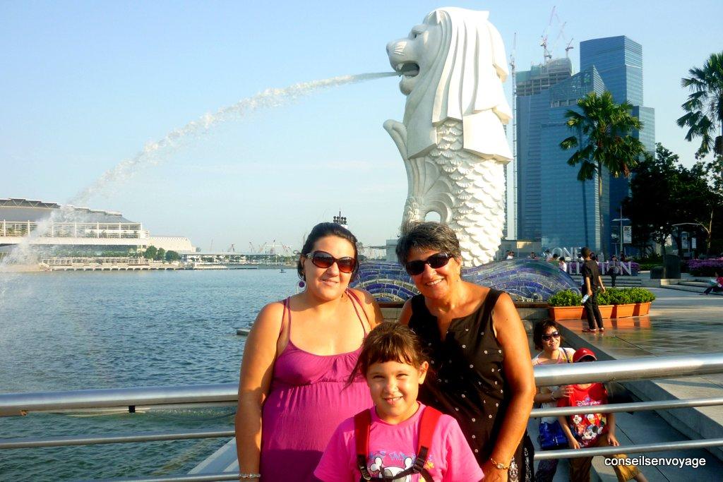 merlion singapour en famille